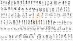 Dwg Formatında 2D İnsan Çizimleri