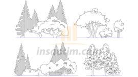 Görünüş ve Kesit Çizimleri İçin Ağaç Tefrişleri