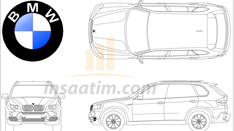 BMW X5 Çizimi (dwg)