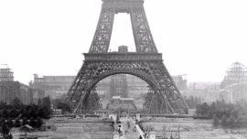 Eiffel Kulesi'nin inşaat fotoğrafları