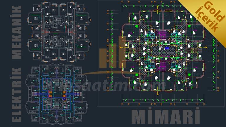 18 Katlı Bina Mimari – Elektrik – Mekanik Projeleri