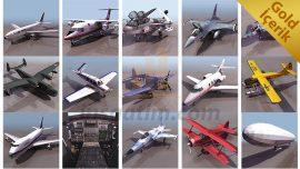 66 adet uçak çizimi