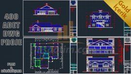 ABD'li Mimarlar Tarafından Çizilmiş Konut Projeleri (dwg) – 400 Proje