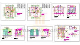 Dubleks ( İki Katlı ) Mimari Villa Projesi (Autocad)