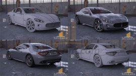 3D Model Maserati GT Çizimi