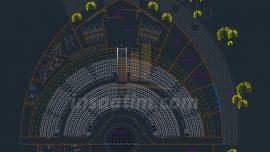 Amfi Tiyatro (Açıkhava Tiyatro) Projesi – dwg