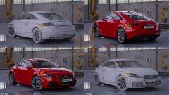 3D Model Audi TT Çizimi