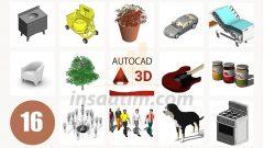 3D AutoCAD Çizim Arşivi-16