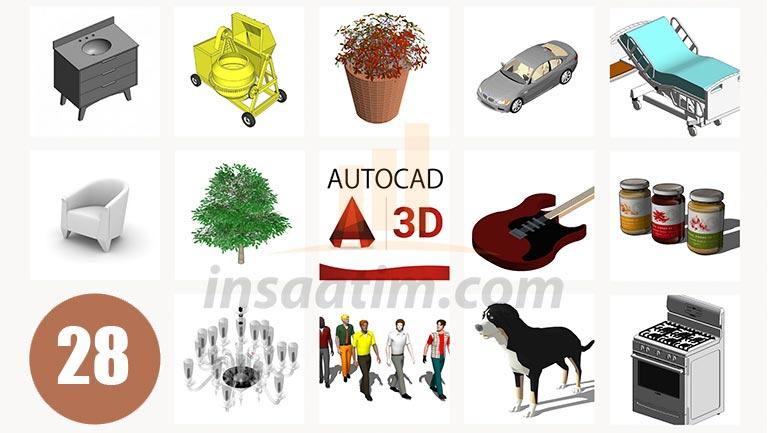 3D AutoCAD Çizim Arşivi-28