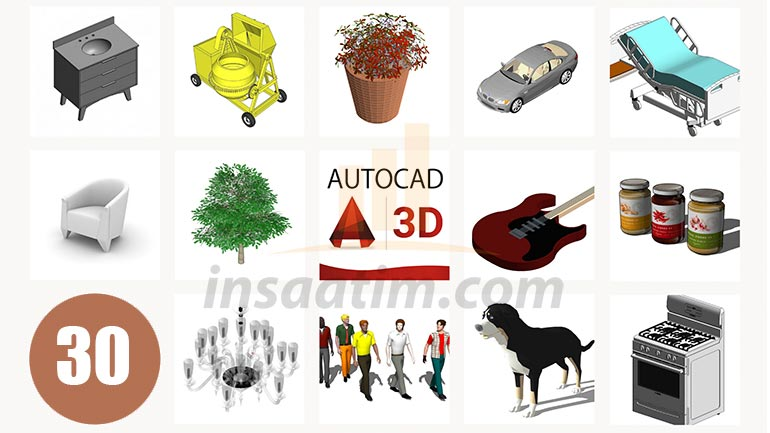 3D AutoCAD Çizim Arşivi-30