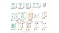 PVC ve Ahşap Kapı, Pencere Detay Çizimleri