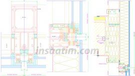Silikon Cephe Detay Çizimleri -dwg
