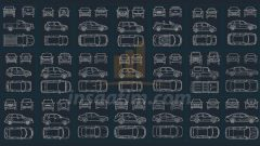 Araba Tefriş Çizimleri (Ön, Arka, Yan, Üst)