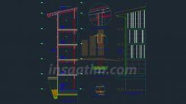 Bina Sistem Detayı, Kesiti, Görünüşü ve Planı
