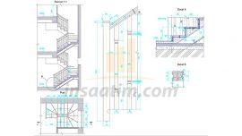 Ahşap Merdiven Detay Çizimi (dwg)