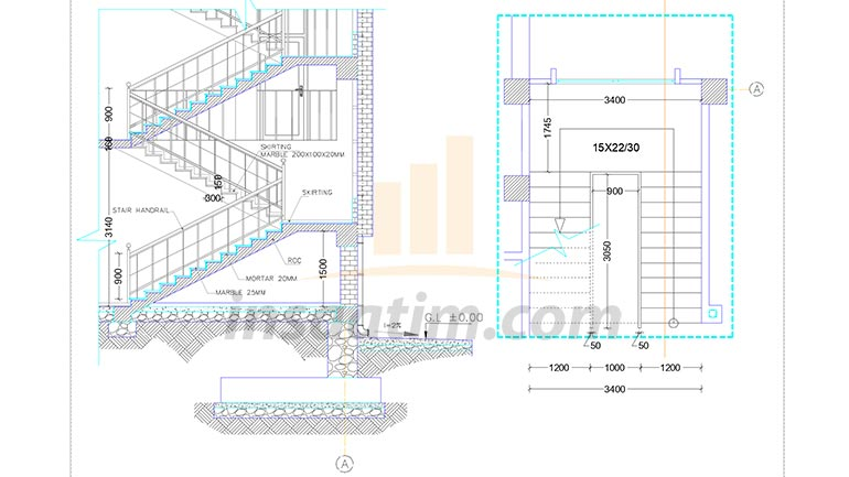Betonarme Merdiven Detayı (dwg)