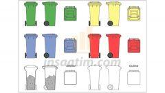 Plastik Çöp Konteyner Çizimleri (dwg)