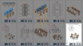 Dwg Ofis ve Toplantı Odası Mobilyaları (2d-3d)