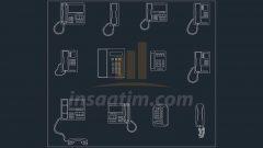 Ev ve İş Telefonu Çizimleri (dwg)