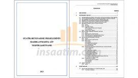 Statik Betonarme Projelerin Hazırlanmasına Ait Teknik Şartname